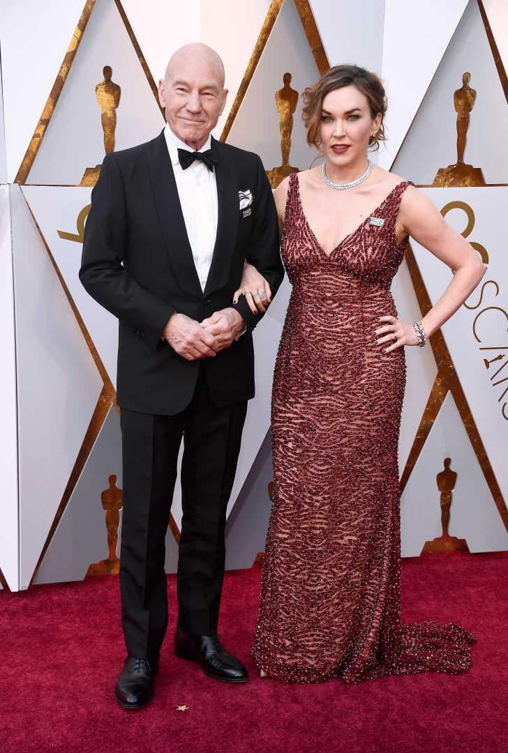 melhores-looks-dos-Óscares-Patrick-Stewart-e-Sunny-Ozell